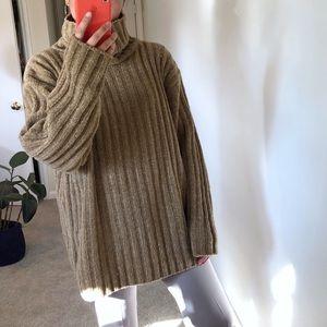 Chunky Vintage Oversized Turtleneck Sweater